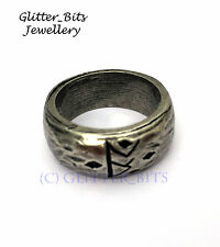 HOBBIT LORD OF THE RINGS THORIN SILVER RUNE RING AN UNEXPECTED JOURNEY LOTR