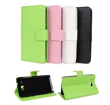 For HTC Desire 601 Stand Flip Folio Wallet Leather Card Holder Hard Case Cover