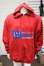 New York Giants Red Hoodie Majestic Apparel Big and Tall Heavyweight