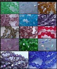 Crystal Glass Bicones 200 4mm&5mm, 100 6mm&7mm, 50 8mm, Faceted Lustre AB