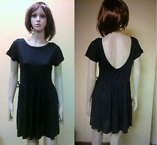 LADIES WOMENS CAP SLEEVE PLAIN FLARED PLEATED VEST TOP CASUAL SKATER DRESS