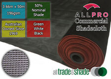 Commercial/Horticultural Shadecloth/Shade Cloth 50% 3.66Mx50M Green/Black/White
