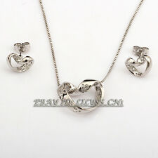 A1-S066 Fashion 18KGP Earrings & Necklace Jewelry Set
