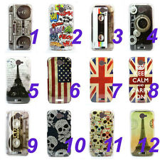 Various Pattern Hard Skin Case Cover For HTC ONE S + Stylus