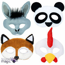 NEW ANIMAL PLUSH MASK ADULTS KIDS CHILDRENS FARM FANCY DRESS COSTUME ACCESSORY