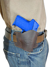New Barsony Brown Leather Gun Quick Slide Holster Colt 380 Ultra Comp 9mm 40 45
