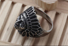 316L Stainless Steel Unisex Skull Cross Armour Finger Rings Punk Men Biker Ring