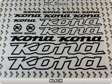 """16 Set KONA Decals Stickers Frames Bicycles Bikes 11"""" COLORS Available A57T"""