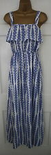 Monsoon Ladies Blue Purple White VTG Floral Summer Sun Party Beach Maxi Dress