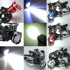 2000lm CREE XM-L T6 LED Ricaricabile Zoomable Frontale Lampada Luce Faro Torcia