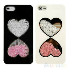 Luxury Bling Heart Rhinestone Crystal Hard Case Cover for iPhone 4/4S 5/5S BF2U