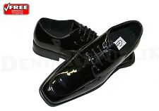 Mens Coronado Whitaker Black Tuxedo Dress Shoes Leather Interior Lace Up Glossy