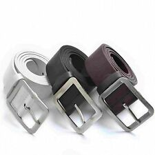 1Pcs Mens Gift Womens Belt Buckle Unisex Faux Leather Waist Band Belts Waistband