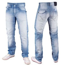 Mish Mash 1988 Ice Byron Mens Designer Slightly Loose Straight Jeans Was £69.99