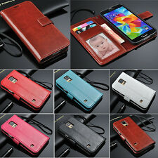 Luxury PU Leather Wallet Flip Cover Case For Samsung Galaxy S5 i9600