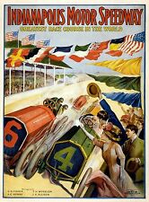 """Advertising Poster: """"Indianapolis Motor Speedway"""" (1909) — Giclee Fine Art Print"""