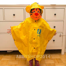 Cute Children's animal rain coats for boys and girls, blue, pink & yellow