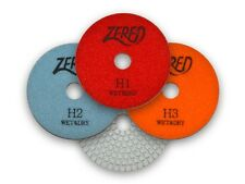 "ZERED 4"" Wet & Dry Premium 3 Step Diamond Polishing Pads for All Kinds of Stones"