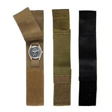 GI Style Nylon Hook & Loop Tactical Commado Watch Band - Black ACU OD or Coyote