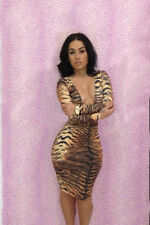 Fashion Sexy Hot Style Leopard Pattern Wear Printed Bandage Dress