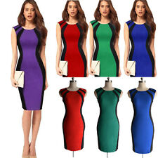 Lady's Women Sleeveless Bodycon Cocktail Party Ball Prom Evening Pencil Dress