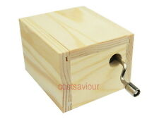 Musical Wooden Box Hand Crank Music Box