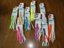 """(2) Old Navy 49"""" Shoelaces Blue Green Rainbow Pink Orange Gold Yellow Purple NEW"""