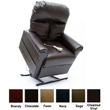 New ChestNut Vinyl Easy Comfort LC-100 Power Lift Chair Mega Motion Recliner