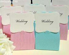 Pink Stripe /  Light Blue Polka Dot Candy Boxes Wedding Party Favors Gift Boxes