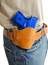 New Barsony Tan Leather Gun Quick Slide Holster for Sig-Sauer Compact 9mm 40 45