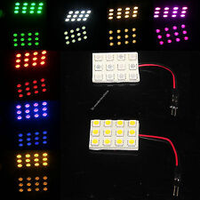 12 5050 SMD LED Box Door Dome Light Panel Interior T10 Festoon Ba9s 12V