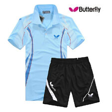 Free New butterfly Men's Badminton Clothes/Table Tennis Shirt+shorts 5453
