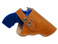 "NEW Barsony Tan Leather OWB Gun Holster for Taurus 22 38 357 Snub Nose 2"" Rev"
