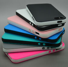 For Apple Iphone4 4S 5 5S Rubber Soft Silicone Get Skin Bumper TPU Case Cover