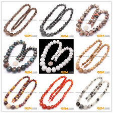 """Natural Round&Rondelle Graduated Jewerly Making Pre Necklace Beads Strand 16"""""""