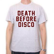 DEATH BEFORE DISCO T SHIRT AS WORN BY JUDGE REINHOLD IN STRIPES CULT FILM MOVIE