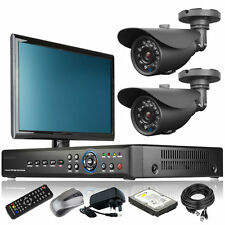 2 x 20M IR Camera Full 960H 4 Channel DVR CCTV Package Cloud P2P with Monitor 3G