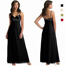 Beaded Long Chiffon Formal Evening Gown Bridesmaid Maxi Dress ed8372
