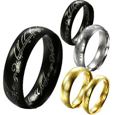 the Lord of the rings Stainless Steel Mens Women Bands Love Jewel Never Fade