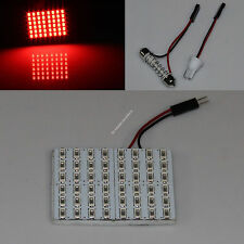Red Car 48 SMD 5630 LED panel Light Dome Interior Bulb T10 Festoon Spring 12V