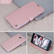4 colors Leather Folio Wallet Flip Case Cover + Film For Lenovo S930 a