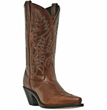 Laredo Women Madison Orange Leather Western Cowboy Cowgirl Fashion Boot 51059