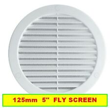 """WHITE CIRCLE AIR VENT GRILLE 125mm Round Ducting Ventilation Cover 5"""""""