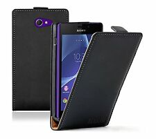 Leather Flip Case Cover Pouch for Mobile Phone Sony Xperia M2 / LTE D2303 / S50h