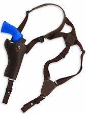 "NEW Barsony Brown Leather Vertical Shoulder Holster Llama, Freedom 4"" Revolver"