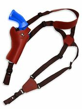 """NEW Barsony Burgundy Leather Shoulder Holster for Rossi, Navy Arms 4"""" Revolvers"""