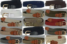 Lady Woman Golf Elastic Stretch Braided Belt Wholesale 15 colorsBW 6001