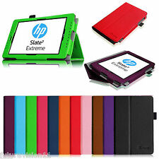 """For HP Slate Extreme 7 7"""" 4400 Leather Case Cover Tablet Android Stylus Holder"""