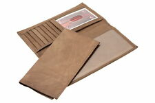 Mens Womens Checkbook Wallet Removable Checkbook Cover Genuine Leather Cowhide