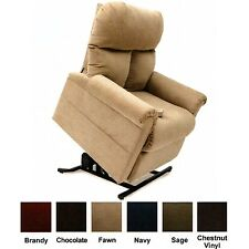 New Fawn Tan Fabric Easy Comfort LC-100 Power Lift Chair Mega Motion Recliner